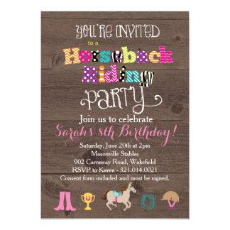 乗馬の誕生日のパーティの招待状 カード