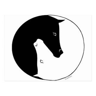 乗馬のYingヤン ポストカード