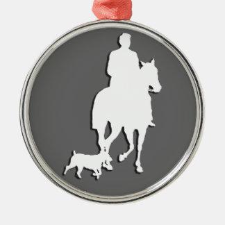 乗馬ビジネステーマのコレクション メタルオーナメント