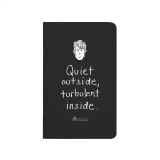 乱流の中の黒い小型ジャーナル ポケットジャーナル
