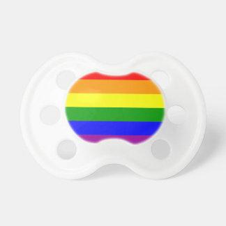 乳児のためのゲイプライドの調停者-プライドの旗のダミー おしゃぶり
