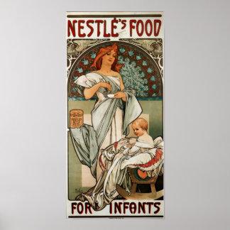 乳児のためのNestlesの食糧 ポスター
