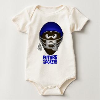 乳児の未来のフットボールのSackerのクリーパー ベビーボディスーツ
