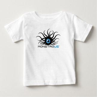 乳児の白く巨大なTシャツ ベビーTシャツ