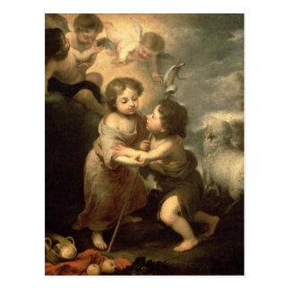乳児キリストおよび洗礼者ヨハネ ポストカード
