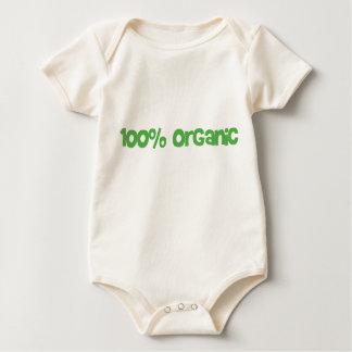 乳児- 100%オーガニックなベビーのワイシャツ ベビーボディスーツ