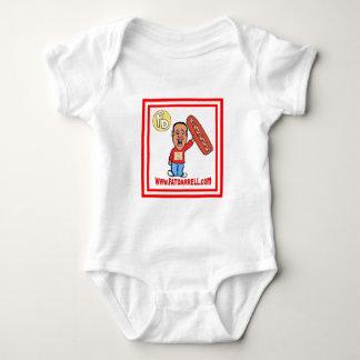 乳児- FD1一つ(白い) ベビーボディスーツ