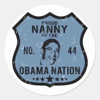 乳母のオバマの国家 ラウンドシール
