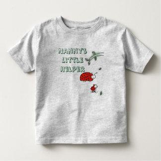 乳母の小さい助手の女性虫のカッコいいのカスタムのワイシャツ トドラーTシャツ