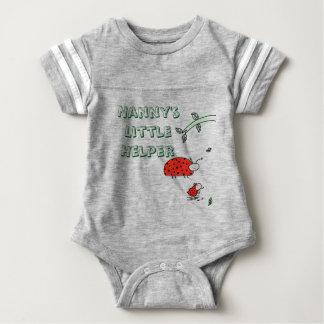 乳母の小さい助手の女性虫のカッコいいのカスタムのワイシャツ ベビーボディスーツ