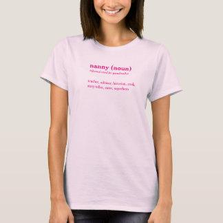 乳母辞書定義カスタムな文字のTシャツ Tシャツ