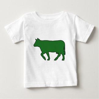 乳牛のシルエットの肉牛Moo Bullの雄牛 ベビーTシャツ