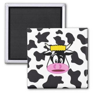 乳牛のプリントパターンのおもしろいで熱狂するな牛Bull マグネット