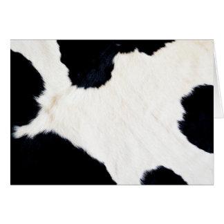 乳牛のプリント カード