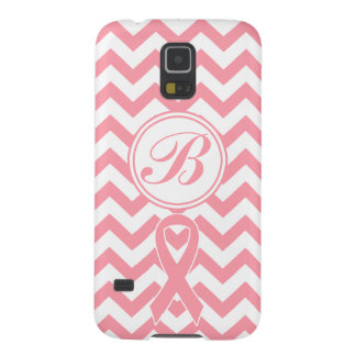 乳癌のピンクのシェブロンのカスタマイズ可能な電話箱 GALAXY S5 ケース