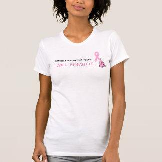 乳癌のピンクのリボンの認識度のワイシャツ Tシャツ