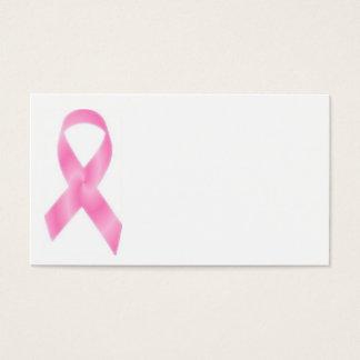 乳癌のピンクのリボン 名刺