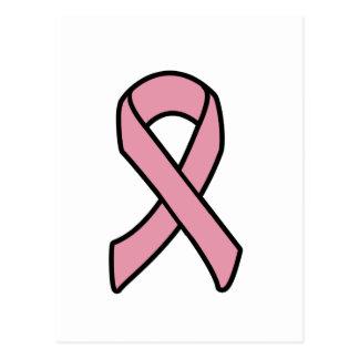乳癌のリボン ポストカード