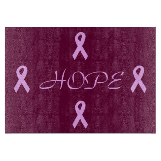 乳癌の希望 カッティングボード