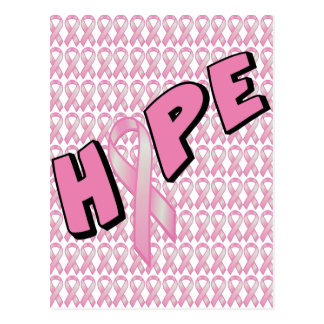 乳癌の希望 ポストカード