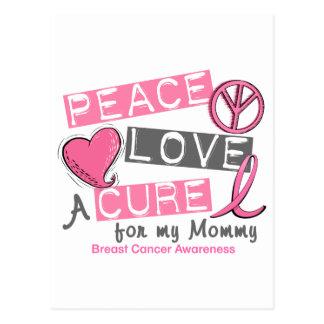 乳癌の平和、愛、治療1 (お母さん) ポストカード