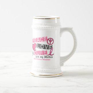 乳癌の平和、愛、治療1 (母) ビールジョッキ