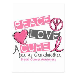 乳癌の平和、愛、治療1 (祖母) ポストカード