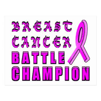 乳癌の戦いのチャンピオン ポストカード