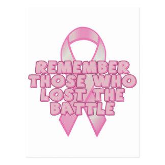 乳癌の戦い ポストカード