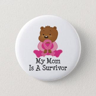 乳癌の生存者のお母さん 5.7CM 丸型バッジ