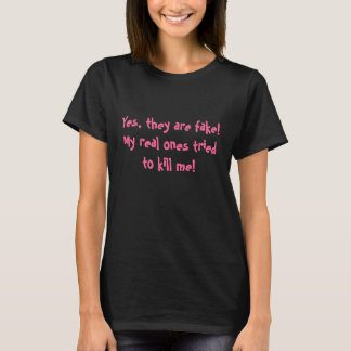 乳癌の生存者のためのおもしろいなワイシャツ Tシャツ