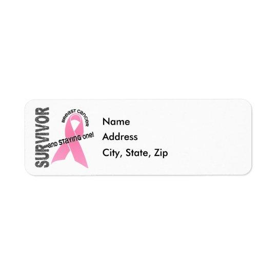 乳癌の生存者1 返信用宛名ラベル