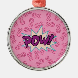 乳癌の英雄 メタルオーナメント