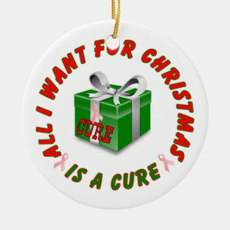 乳癌の認識度のクリスマスのオーナメント セラミックオーナメント