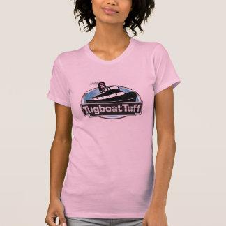 乳癌の認識度のピンクのリボンのタグボートの凝灰岩 Tシャツ