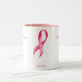 乳癌の認識度のマグ ツートーンマグカップ