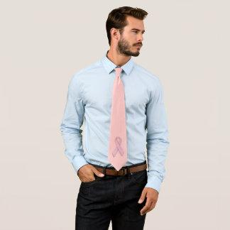 乳癌の認識度のリボンのタイ ネクタイ