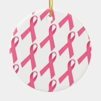 乳癌の認識度のリボンのプリントのオーナメント セラミックオーナメント
