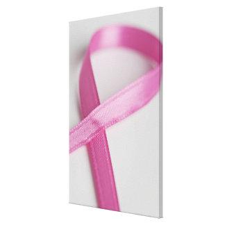 乳癌の認識度のリボンの閉めて下さい キャンバスプリント