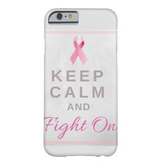 乳癌の認識度のリボンの電話箱 BARELY THERE iPhone 6 ケース