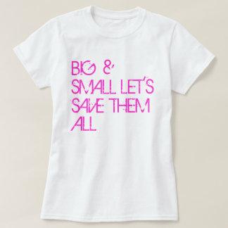 乳癌の認識度のワイシャツ: 大きく及び小さい… Tシャツ
