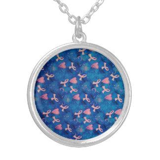 乳癌の認識度の銀によってめっきされるネックレス シルバープレートネックレス
