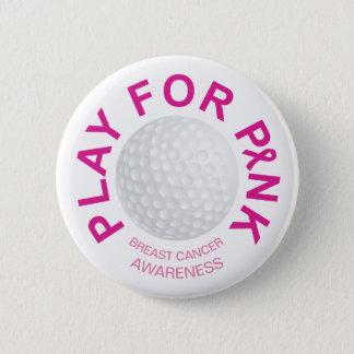 乳癌の認識度ボタンのためのゴルフ演劇 5.7CM 丸型バッジ