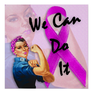 乳癌の認識度月、Rosieリベッター ポスター