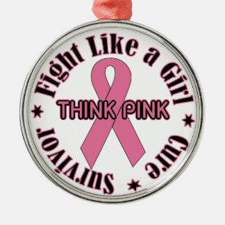乳癌の認識度 メタルオーナメント