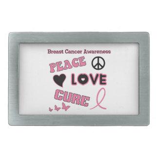 乳癌の認識度 長方形ベルトバックル