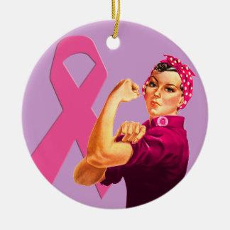 乳癌の認識度Rosieリベッター セラミックオーナメント
