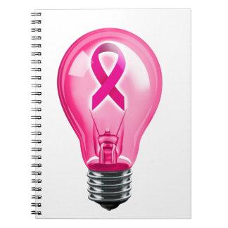 乳癌の電球 ノートブック