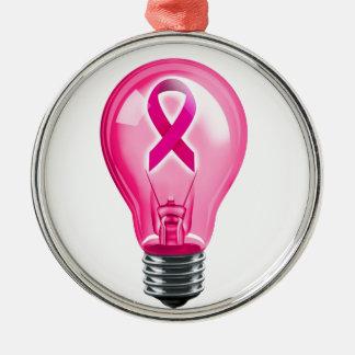 乳癌の電球 メタルオーナメント