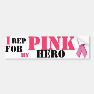 乳癌のbumberのステッカー バンパーステッカー